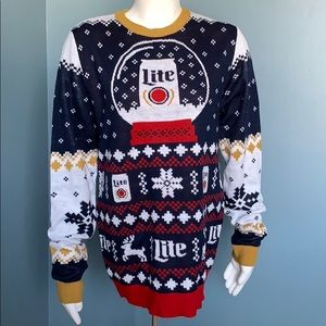 Other - Miller Lite Beer Ugly Christmas Sweater small
